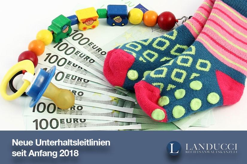 Unterhaltsleitlinien 2018 (Kindesunterhalt & Düsseldorfer Tabelle)