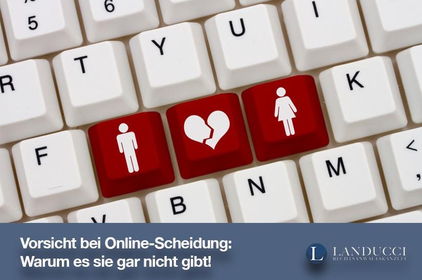 Online-Scheidung: Warum es sie gar nicht gibt!